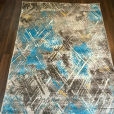 Rugs Aprox 6x4ft 120x160cm Woven Backed Sale Rug Top Quality Grey/Teal/Yellow